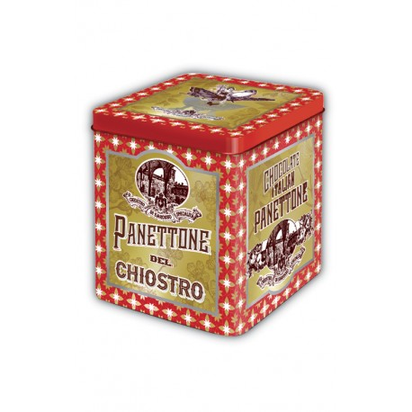 Mini Panettone with chocolate chips - Stardust metal tin - 100g