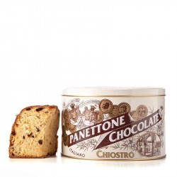 Panettone Chocolate - Stripe - Latta in metallo - 750g