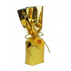 Petit Panettone classique - Handwrapped - Enveloppè à la main avec carte or - 50g