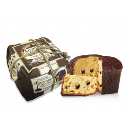 Panettone with chocolate cream - Hand wrapped - 750g