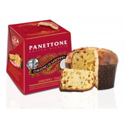 Classic Pannettone with raisins end candied fruits - Traditional Recipe - 1000g