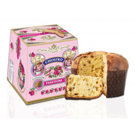Classic Pannettone with raisins end candied fruits - Fresh VIintage Cardbox - 750g