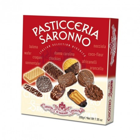 Pasticceria Saronno - Assortment of pastries with chocolate Cookies- Cardbox - 200g.